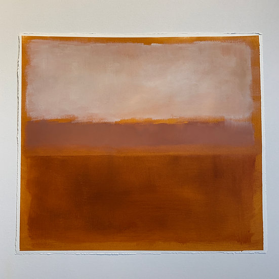 colorfield study, rust/rose, horizontal fields