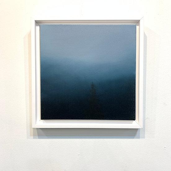 "respite blue, 10x10"" oil on canvas, framed"