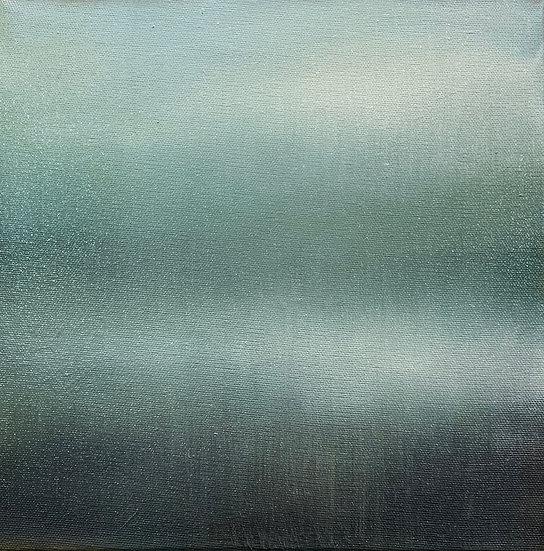 nostalgia iii, 10x10: oil on canvas, framed in white floater