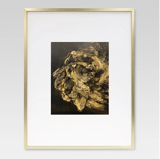 "'burnished rose' 8x10"" oil on arches paper,framed"