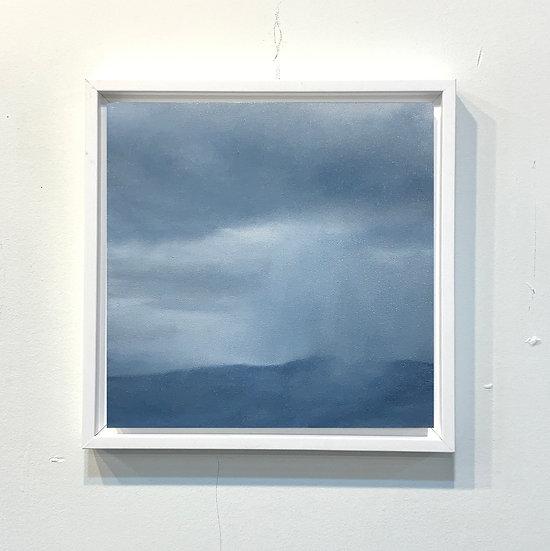 "50 words for rain, study 9, 10 x 10"" oil on board, framed"