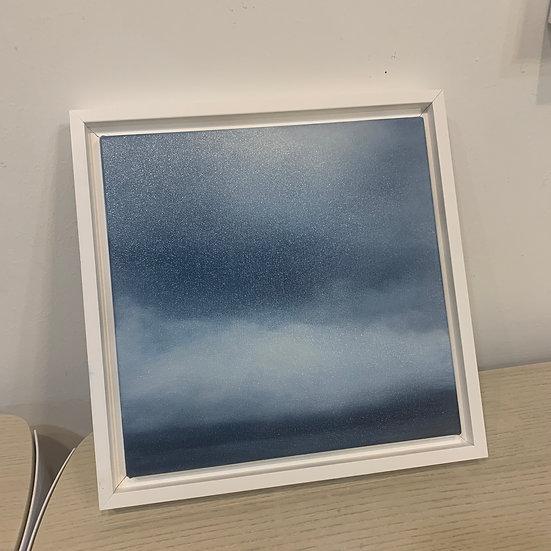 """50 words for rain, study 6, 10 x 10"""" oil on canvas, framed"""