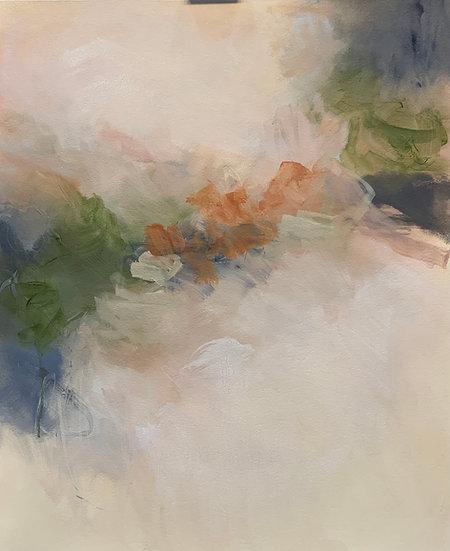 """whisper, 22x27"""" oil on paper, unframed"""