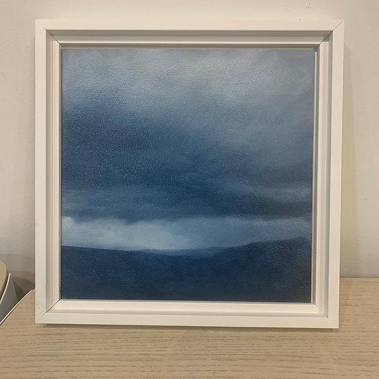 "50 words for rain, study 5, 10 x 10"" oil on board, framed"