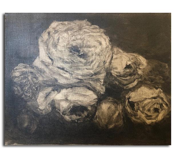 """heavy roses, 16x20"""" oil on linen"""