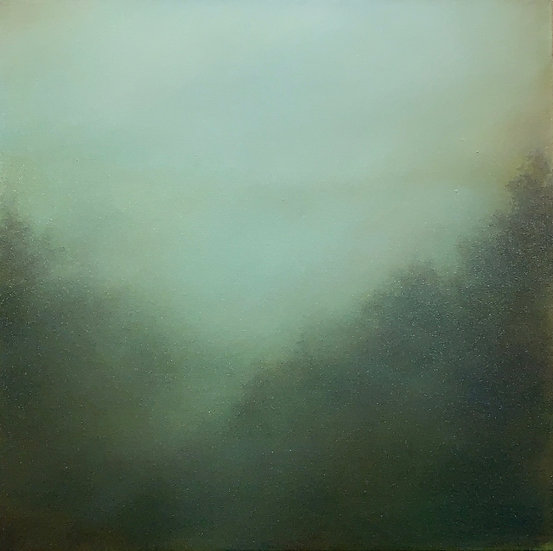 """hidden language of trees i, 18x18"""" oil on canvas, unframed"""
