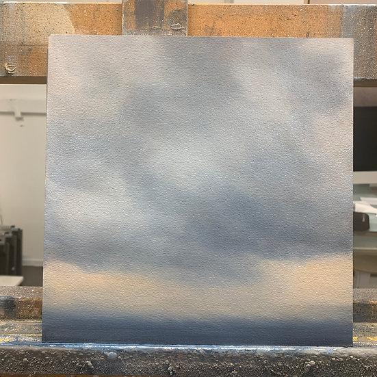 "50 words for rain, study 8, 10 x 10"" oil on board, framed"