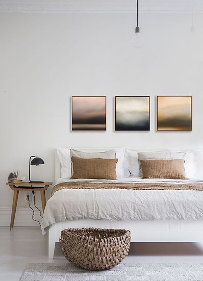 """commission 3 paintings, each 18x18"""", oil on canvas, framed"""