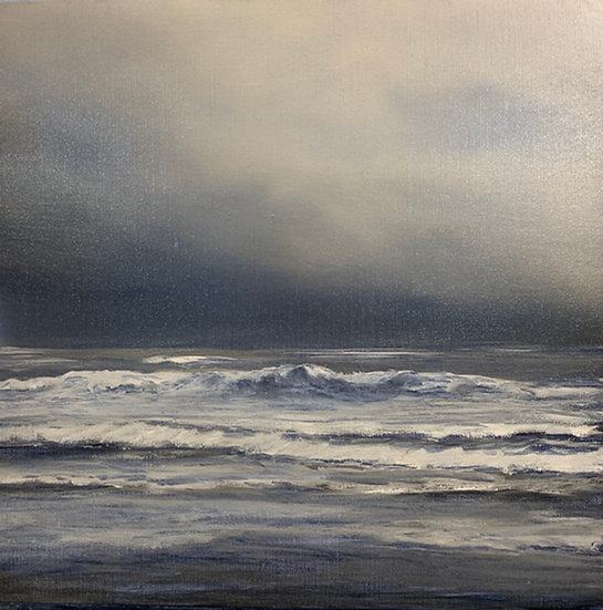 seascape iii, 16x16' oil on linen, unframed