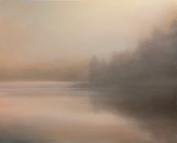 "brume, in blush 24x30"" oil on canvas, unframed"