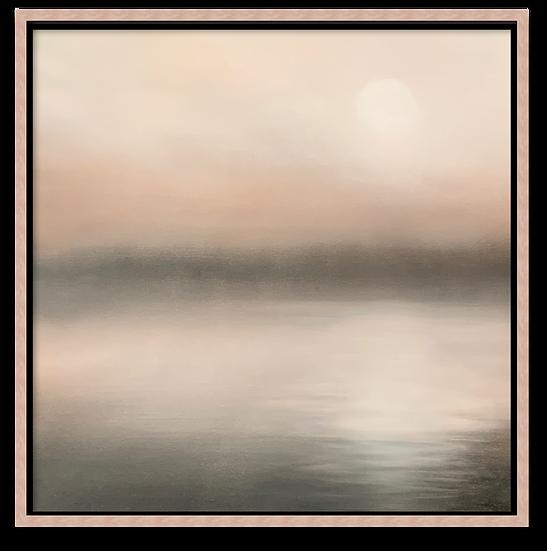 "mangata, 18x18""oil on canvas, framed or unframed"