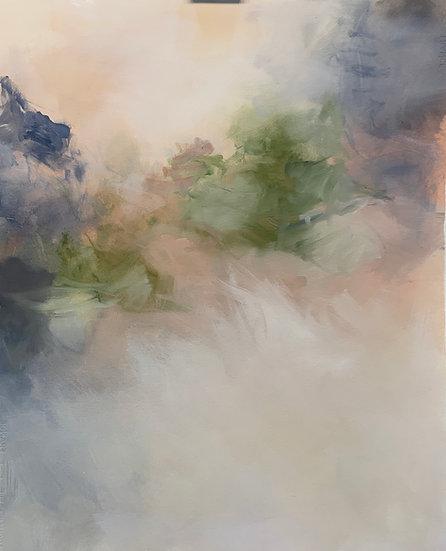 "light path, 22x27"" oil on paper, unframed"
