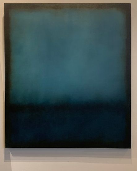 "indigo colorfield 2, 35x40"" oil on canvas, unframed"