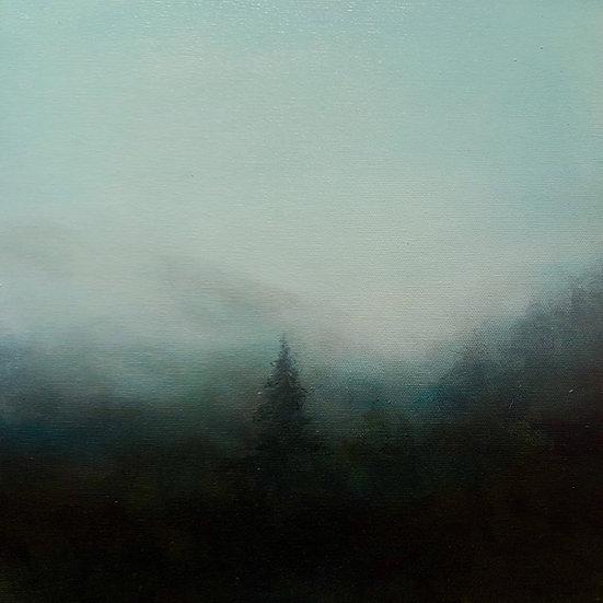 "a wordless prayer, 18x18"" oil on canvas"