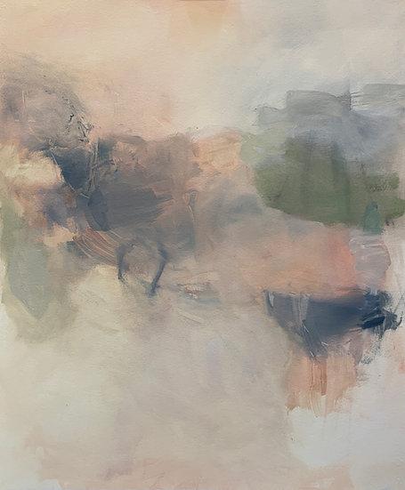 "passage, 22x27"" oil on paper, unframed"