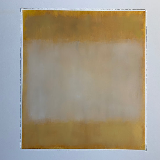 colorfield study, italian yellow, can be oriented landscape or portrait