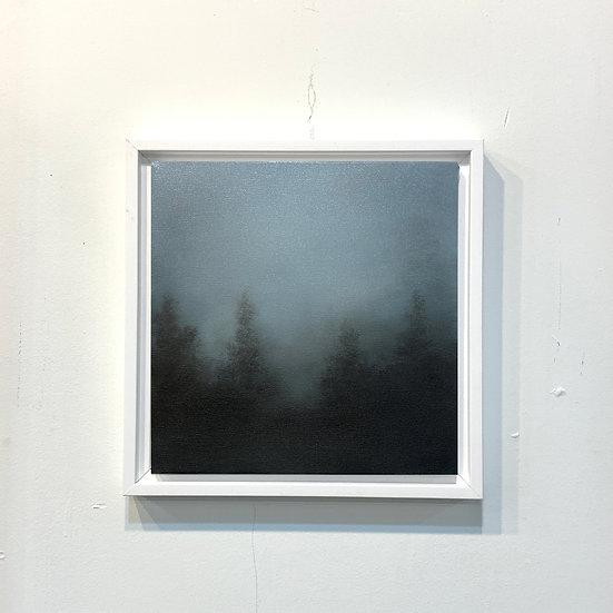 """moonmist blue, 10x10"""" oil on canvas, framed"""