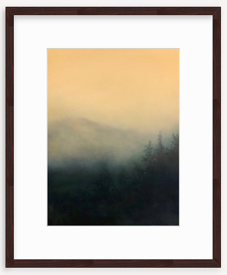 limited time print, week of 3/22, 'wedded to the mist' framed print