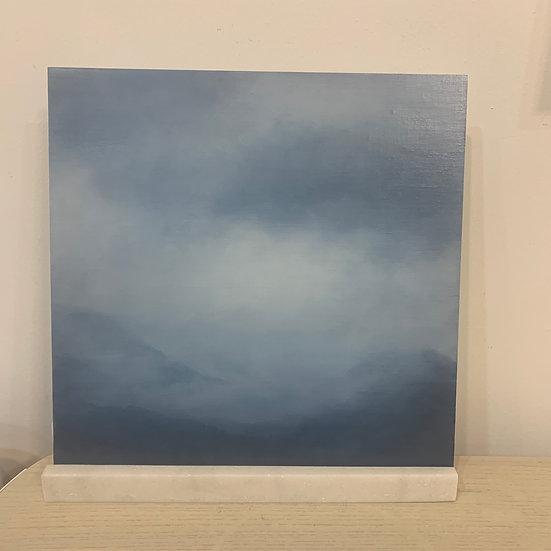 "50 words for rain, study 1, 12 x 12"" oil on board, framed"