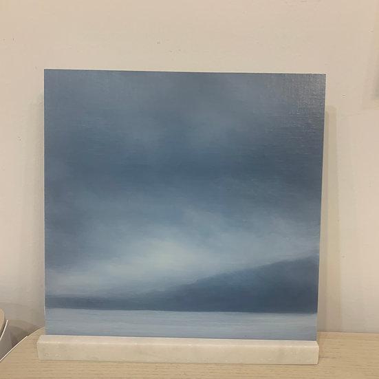 "50 words for rain, study 3, 12 x 12"" oil on board, framed"