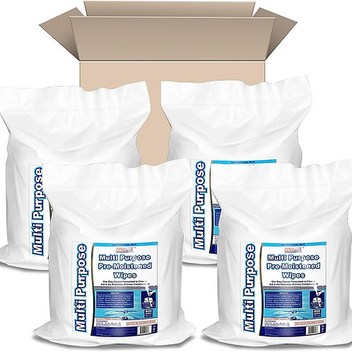Multipurpose Gym & Fitness Wipes Refill Packs (800 Count x 4 Rolls = 3200 Wipes)