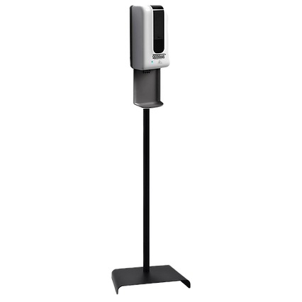 Sanitizer dispenser with tray and stand_