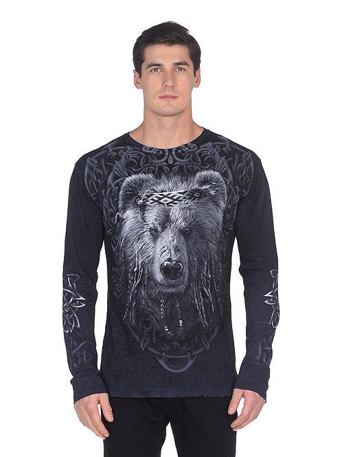 «Мудрый медведь» лонгслив