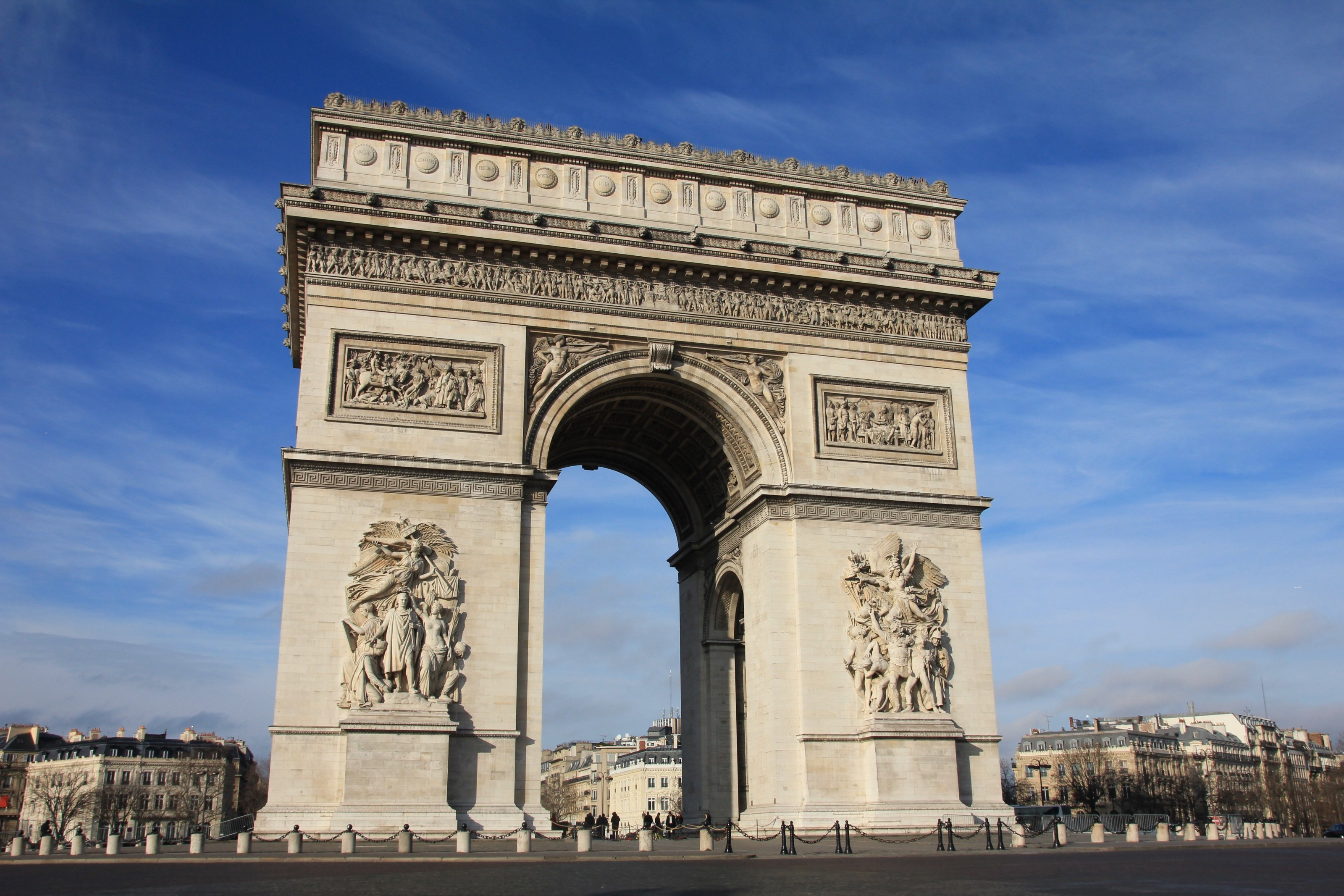 paris-france-arc-de-triumph-architecture