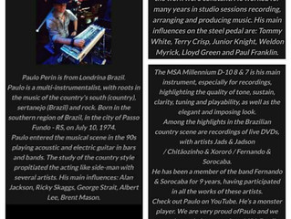 Paulo Perin nova parceria - MSA Pedal Steels (U.S.A.)