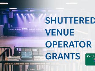 Shuttered Venue Operator Grants