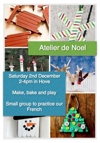 Noël - French workshop - Atelier - Saturday 2nd December