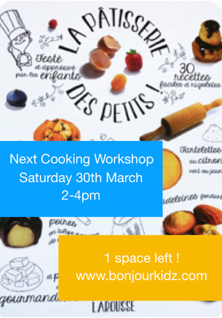 Cooking workshop 30th March