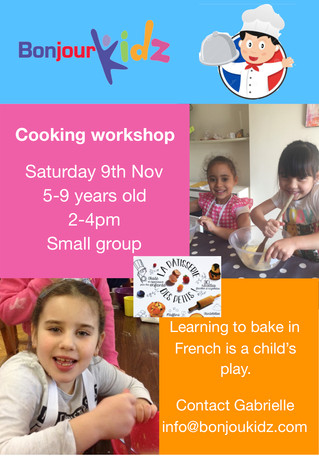 Cooking workshop 9th November