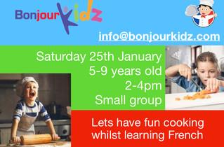 Cooking workshop - 25th Jan 2020
