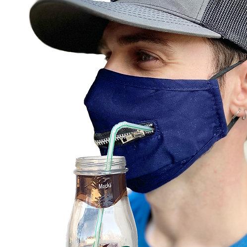 Zipper Mask, Blue