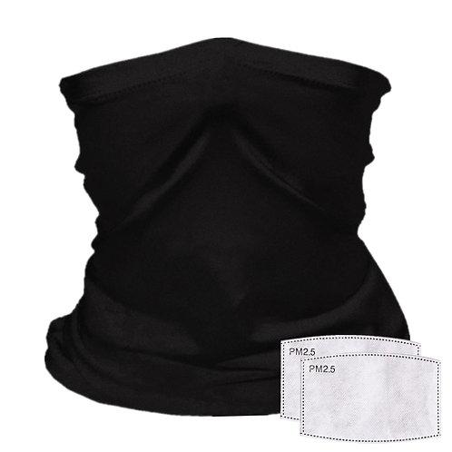 Gaiter with Filter Pocket,Black