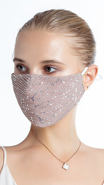 Fashion Glitter Mask with Filter Insert, Pink