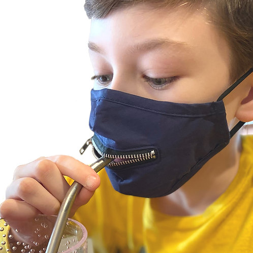 Child Zipper Mask, Blue