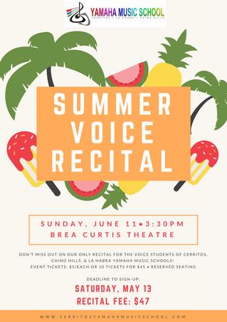 Summer Voice Recital!