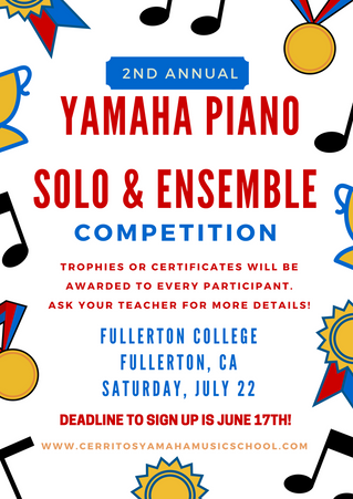 2nd Annual Piano Solo & Ensemble Competition