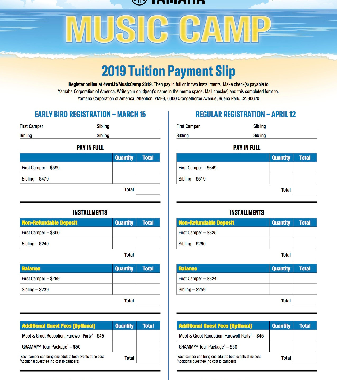 2019 Yamaha Music Camp Brochure 3