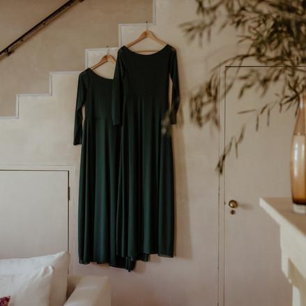 Bridesmaid emerald green dresses
