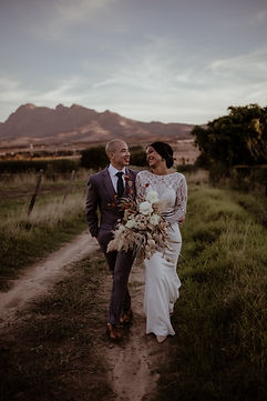 Newly wed couple Cape Town