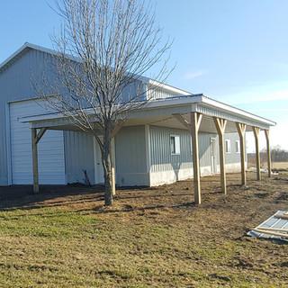 post frame porch