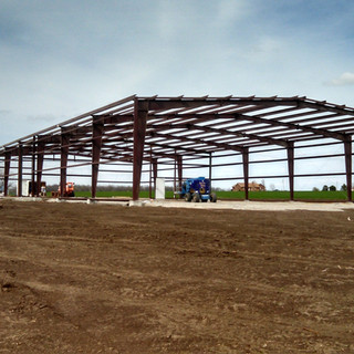 steel frame ready for metal