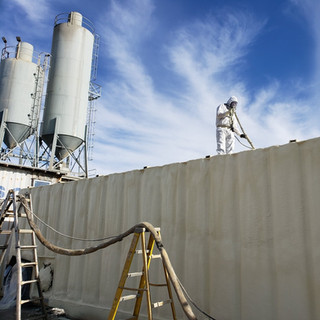 Precision Enterprises applying spray foa