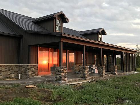 post frame shop house built by Precision Enterprises