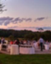rehersal dinner, patio, starlit classic, mounain views, sunset, wedding venue elegant in northern virginia