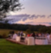 big wedding mountain views at the best outdoor wedding venue in northern virgnia