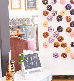 Donut wall at a Rixey Manor Wedding